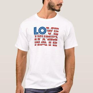 Camiseta del odio de los triunfos del amor camiseta