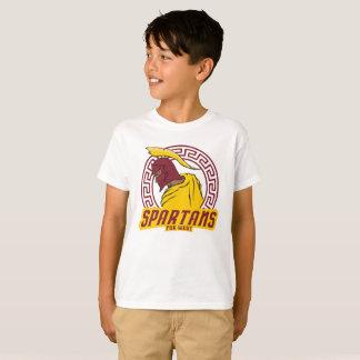 Camiseta del oeste lejana del logotipo de Spartans
