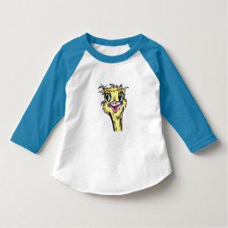 Camiseta del pájaro del niño de la avestruz