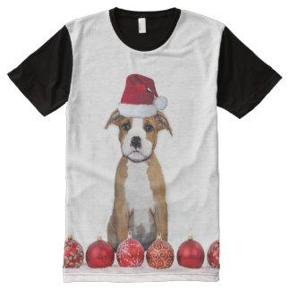 Camiseta del panel del perrito de Pitbull del