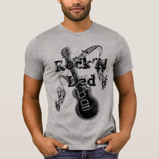 Camiseta del papá de Rock N - regalo para el papá