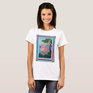 Camiseta del paraíso del flamenco