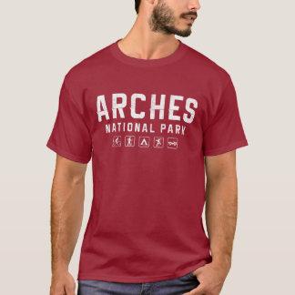 Camiseta del parque nacional de los arcos (oscura)