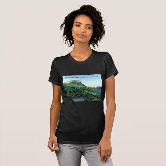 Camiseta del Parque Nacional Glacier del cuello