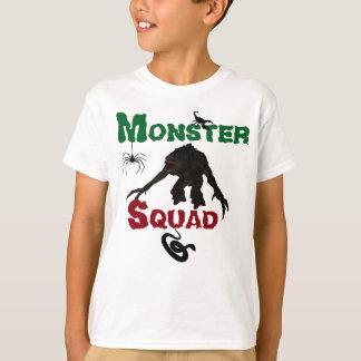 Camiseta del pelotón del monstruo de los niños