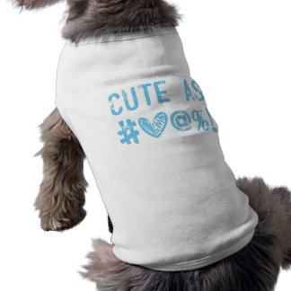 ¡Camiseta del perrito que dice lo que usted