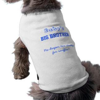 Camiseta del perro de hermano mayor del bebé