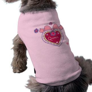 Camiseta del perro de la reina
