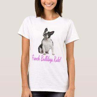 Camiseta del perro de perrito del dogo francés del