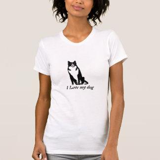 Camiseta del perro del collie