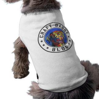 Camiseta del perro del logotipo del blog del papá