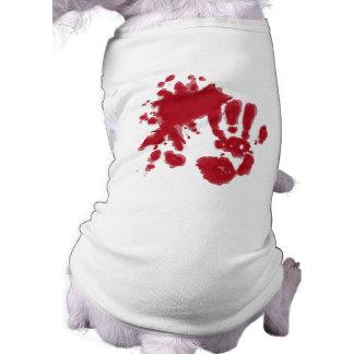 camiseta del perro del zombi camiseta sin mangas para perro