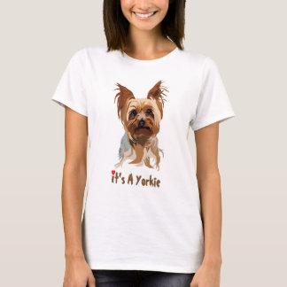 Camiseta del perro: Es un Yorkie