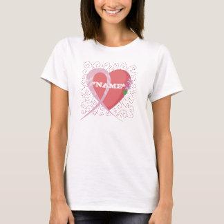 Camiseta Camiseta del personalizable del cáncer de pecho