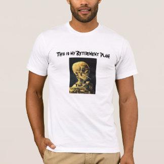 Camiseta del plan de retiro del cráneo que fuma