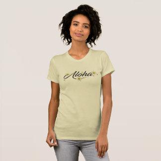 Camiseta del Plumeria de la hawaiana