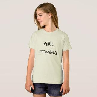 Camiseta del poder del chica