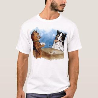 Camiseta del póker del gato del vintage de Louis