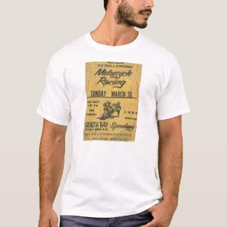 Camiseta del poster de la raza de la motocicleta