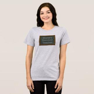 Camiseta del profesor de Goodest del mundo