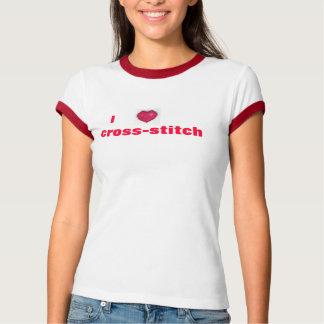 Camiseta del punto de cruz I (del corazón)