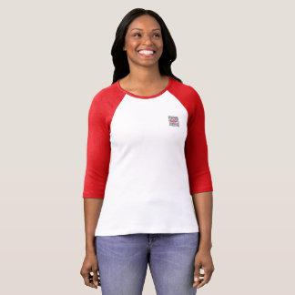 Camiseta del raglán de la manga de las mujeres de