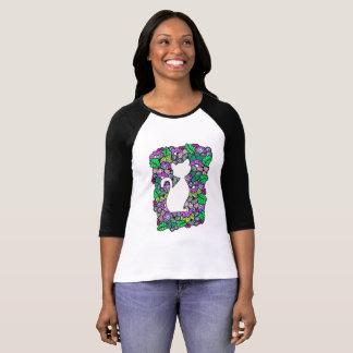 Camiseta del raglán de la manga de las mujeres del