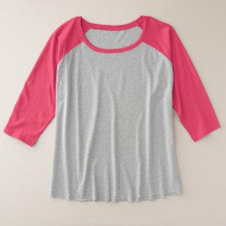 Camiseta del raglán de la manga del tamaño extra