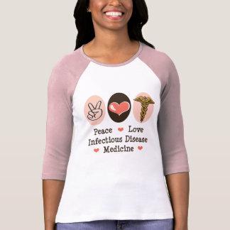 Camiseta del raglán de la medicina de la enfermeda