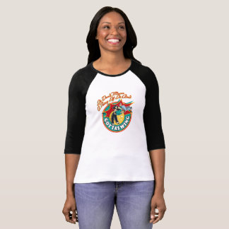 Camiseta del raglán de las mujeres