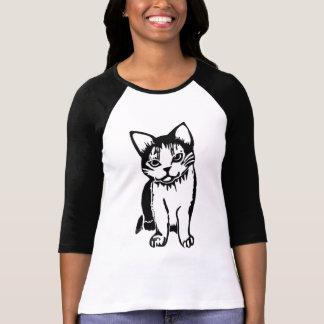 Camiseta del raglán de las mujeres blancos y