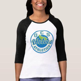 Camiseta del raglán de las mujeres del atletismo
