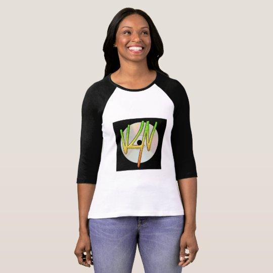 Camiseta del raglán de las mujeres del logotipo de