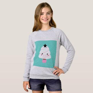 Camiseta del raglán de los chicas con el árbol de