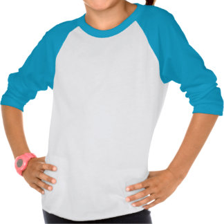 Camiseta del raglán de los chicas del unicornio