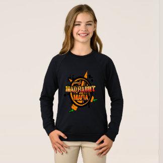 Camiseta del raglán de los chicas enojados del