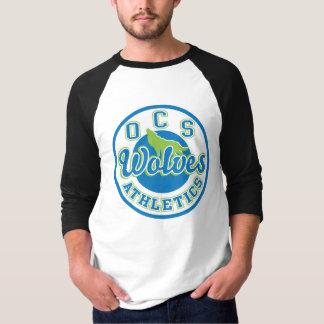 Camiseta del raglán de los hombres del atletismo