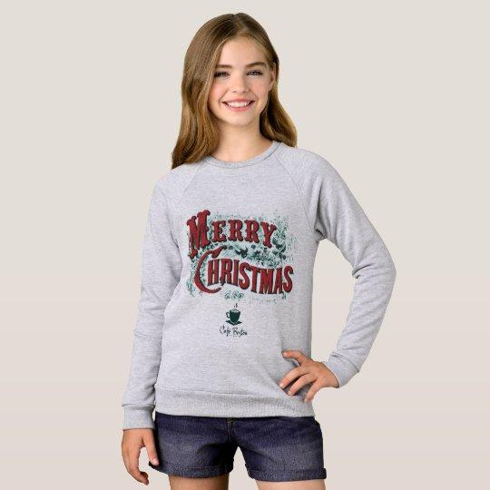 Camiseta del raglán de Navidad de CaféBoston de