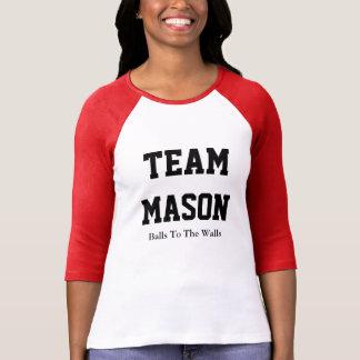 Camiseta del raglán del albañil del equipo