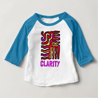 """Camiseta del raglán del bebé 3/4 de la """"claridad"""""""