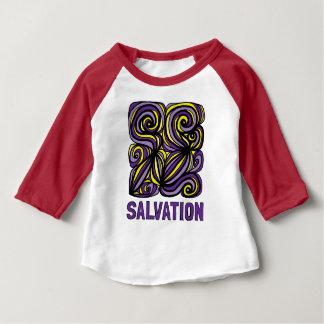 """Camiseta del raglán del bebé 3/4 de la """"salvación"""""""