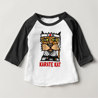 """Camiseta del raglán del bebé 3/4 del Kat del Camiseta De Bebé"