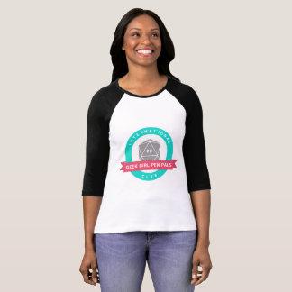 Camiseta del raglán del logotipo de los amigos por