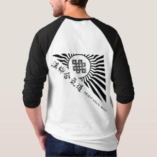 Camiseta del raglán del logotipo del Aikido del