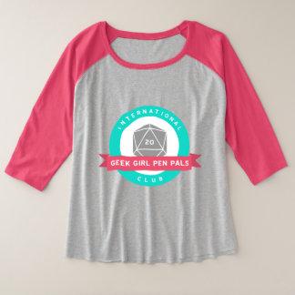 Camiseta del raglán del logotipo del tamaño extra