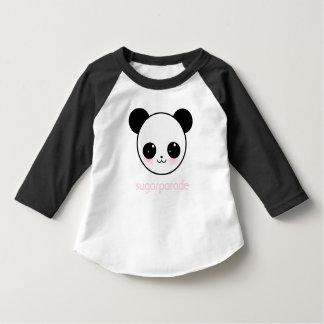 camiseta del raglán del niño de Panda-chan del