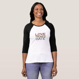 Camiseta del raglán del odio de los triunfos del camiseta