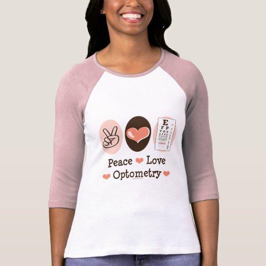 Camiseta del raglán del optometrista de la