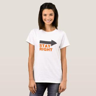 Camiseta del recordatorio de la etiqueta del