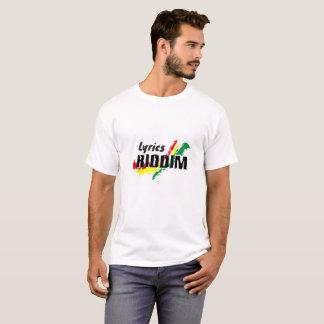 Camiseta del reggae - letras Riddim